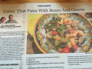 pasta with beans and greens 005