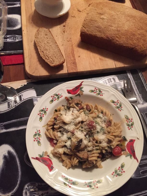 pasta with beans and greens 013